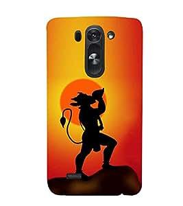 Fiobs Hanuman Shankh Sun Hindu Designer Back Case Cover For Lg G3 Mini