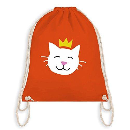 Tiermotive Kind - Katze Prinzessin - Unisize - Orange - WM110 - Turnbeutel I Gym Bag