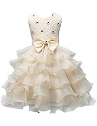 Niña Escote en V Arco Malla Brillante Fiesta de Baile Princesa Pastel Vestidos Mullido