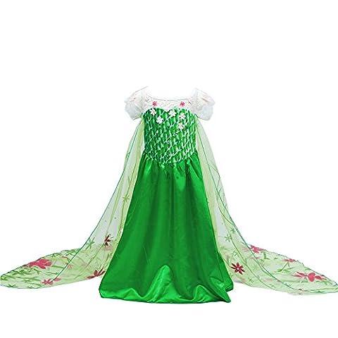 D'amelie Eiskönigin Prinzessin Kostüm Kinder Glanz Kleid Mädchen Weihnachten Verkleidung Karneval Party Halloween