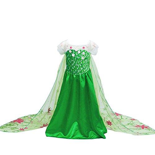 D'amelie Eiskönigin Prinzessin Kostüm Kinder Glanz Kleid Mädchen Weihnachten Verkleidung Karneval Party Halloween Fest