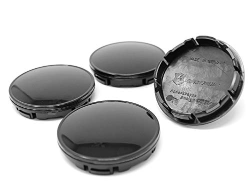Finest Folia 4X Nabendeckel 56mm Durchmesser ABS Kunststoff Aluminium Nabenkappen für Felgen Radnaben Felgendeckel Felgenkappen Universal Auto Zubehör (Schwarz)