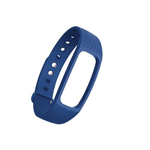 Xuniu Ersatz-Uhrenarmband, Fitness-Tracker-Herzfrequenz-Armband für IPRO ID107 Smart Watch (Blau)