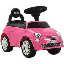 vidaXL Coche Correpasillos Fiat 500 Rosa Vehículo Auto Juguete Juego Infantil