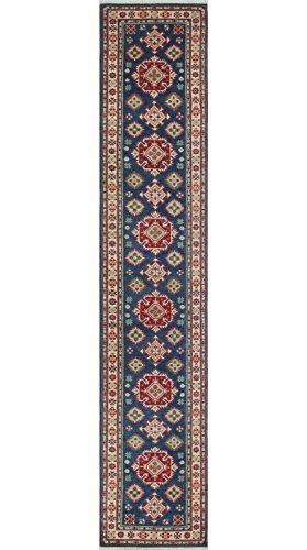 Noori Rug Teppich Nuri Handarbeit Bereich Teppich, Wolle, blau/elfenbein, 2'17,8cm X 13' 2,5cm (Bereich Traditionellen Elfenbein Teppich)