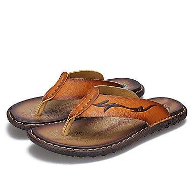Slippers & amp da uomo;Luce Estate Suole PU Casual Sandali Marrone terra gialla sandali US9.5 / EU42 / UK8.5 / CN43