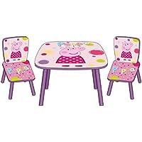 Arditex PP8377 - Set de mesa y 2 sillas, diseño Peppa pig