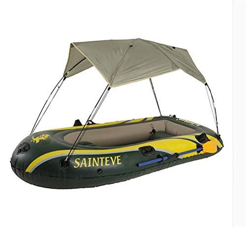 Nombre: kayak inflableTamaño: externo 230 * 125CM, interno 130 * 65CMMaterial: PVC de alta densidad respetuoso con el medio ambiente.Espesor: 1,2 mmPeso: 7.5kgCarga: 300kg / 661lb - 3 personasEl kayak inflable GUOE-YKGM es deportivo y divertido con u...