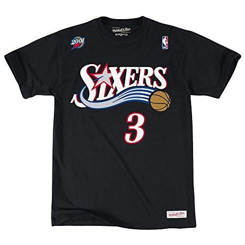 Mitchell & Ness Philadelphia 76ers Allen Iverson T-Shirt (L, schwarz)