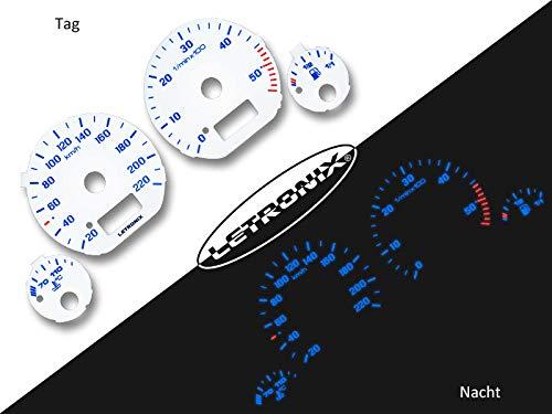 LETRONIX Plasma Tacho Tachoscheiben für Auto Golf 3 Vento 20-220Km/h 5000U/Min