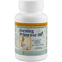 Fairhaven Health - Huile d'Onagre (Primevère) 500mg, 64 gélules (1 mois) - SPÉCIAL FERTILITÉ & GROSSESSE - Aide à Concevoir (Glaire Cervicale Fertile) & Réguler Hormones Féminines - Riche en Oméga 6, AGL, Vitamine E & Sélénium - Complément Alimentaire Bio-Actif pour Femme Enceinte (Evening Primrose Oil capsules - Primerose Supplement)