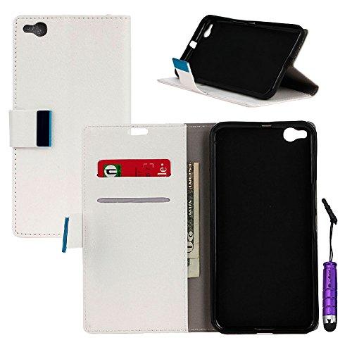 HTC One X9 Hülle, Klassisch PU Handycover Ledertasche Flip Cover Wallet Case Standfunktion[Stoßfest][Anti-Kratzer]Shell Magnetverschluss Handytasche mit Kartensteckplätze Schutzhülle Case