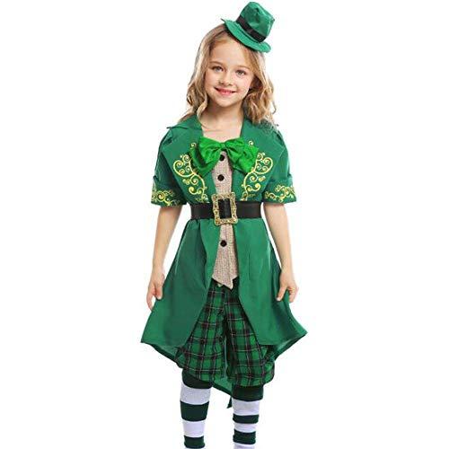 Irische Kostüm - QWE Halloween-Kostüme, irische Kobolde, Alice-Serie, Kinderelfen, Kinderbekleidung