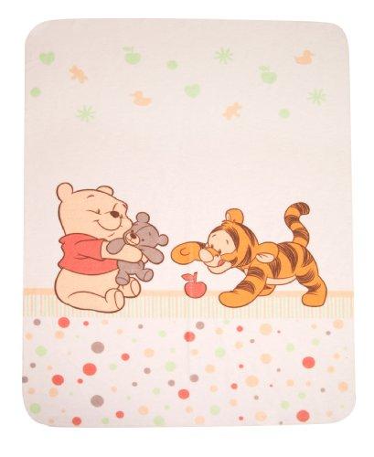 Julius Zöllner 9610010003 - Baby Pooh and Friends Kuscheldecke bedruckt, 75x90 - Disney Italienische Charme Von