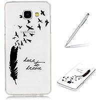 "Trumpshop Smartphone Case Coque Housse Etui de Protection pour Samsung Galaxy A3 (2016,A310,4.7"") Série Transparente + Love to Dream + Silicone TPU [Non compatible avec A3 (A300,4.5"")]"