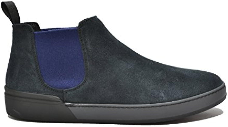 FRAU 20H2 azul hombre botas zapatos de gamuza mediados de senderismo Beatles