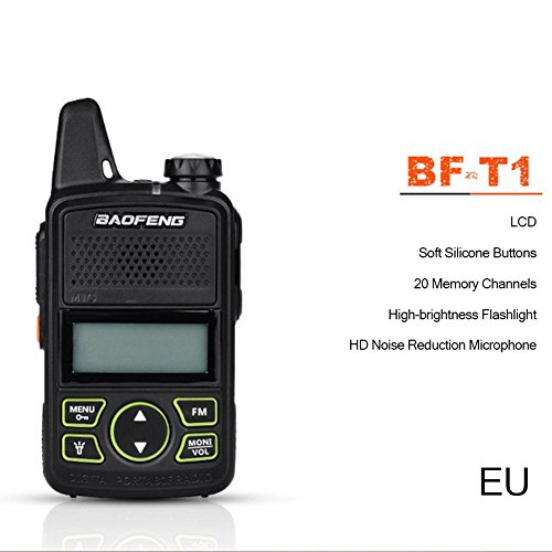 Bulary tragbare Radio Mini Walkie Talkie Zwei-Wege-Radio-Communicator Transceiver USB Sprech - Fm Zwei-wege-radio