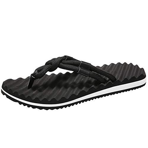 feiXIANG Herren Zehentrenner Pantoletten Flache Schuhe Sandale Flip Flops Männer Bequem Slipper Rutschfest Badeschuhe Simple Sandalen ()