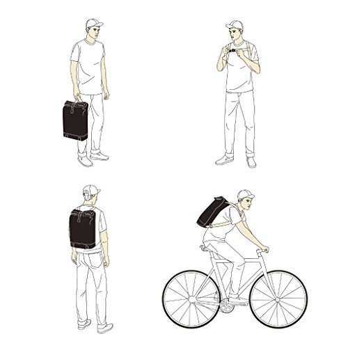 Brooks Pickwick Canvas Small Backpack Rucksack Leder Segeltuch Fahrrad Büro Modern Retro Urban, BB022A072 weiß