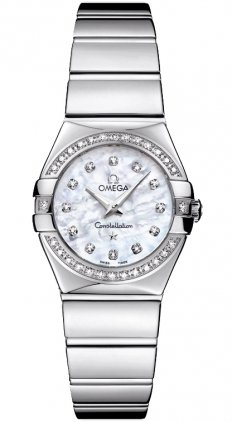 Omega Constellation madreperla, in acciaio INOX, con quadrante 12315246055003-Orologio da donna