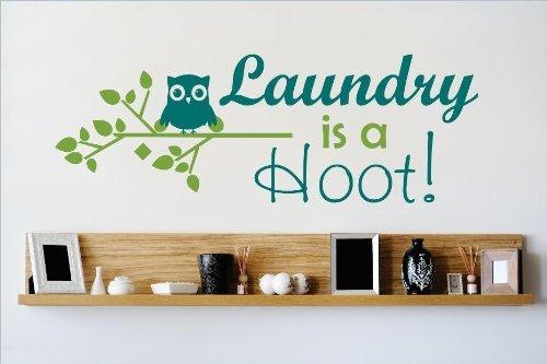 Aufkleber-VINYL Wandtattoo Ist: Wäsche A Hoot Zitat Home Decor Aufkleber-VINYL Wand Aufkleber-22Farben erhältlich Größe: 30,5x 76,2cm