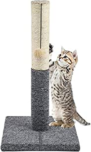 Cat Scratching Post Cat Scratcher with Toy for Smaller Cats and Kittens, Durable Sisal Material Keeps Kitten C