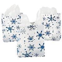 Medium Clear Gift Bags with Snowflakes 1 Dozen by adventure's bag preisvergleich bei billige-tabletten.eu