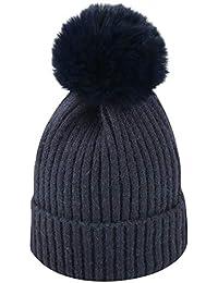 Mitlfuny Niños Niñas Sombreros de bebé Unisex Desmontable Bola de Pelo  Grande Gorro de Punto Invierno f0670aebc3a