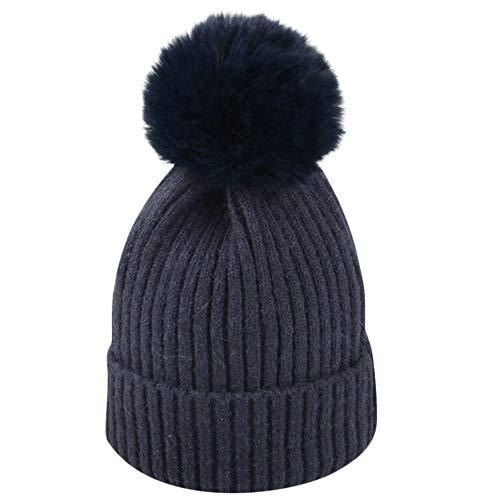 Wanshop ® Baby Boys Girls Beanie Cotton Letter Knitted Ball Winter Warm Hat  Cap for 2 965e941f7a52