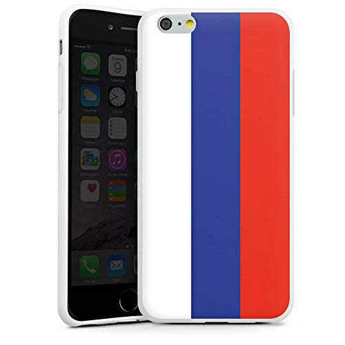 Apple iPhone X Silikon Hülle Case Schutzhülle Russland Flagge Russia Silikon Case weiß