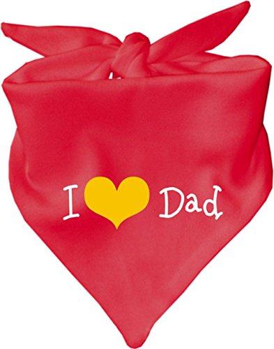 KLEINER FRATZ Bavoir pour bébé I love Dad/couleur Rouge