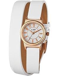 Just Watches Damen-Armbanduhr XS Analog Quarz Leder 48-S4062-RGD-WH