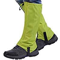 VORCOOL Impermeable Senderismo al Aire Libre Caminar Escalada Caza Nieve Legging Gaiters - Tamaño L (Verde)