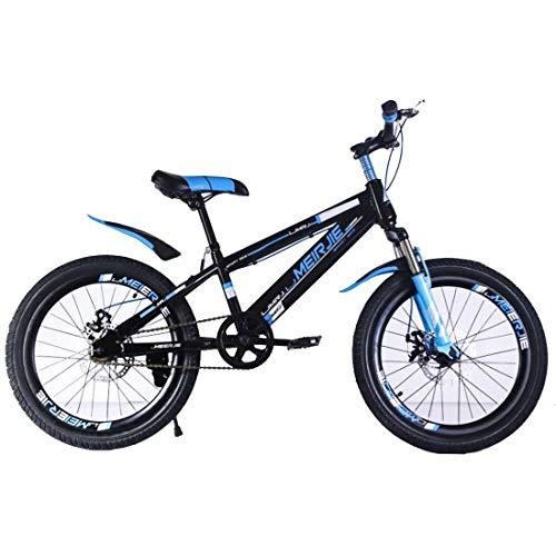 MUYU Bicicleta Infantil para niños y niñas a Partir de 8 años Bici de montaña 16,18,20 Pulgadas,Blue,16inch