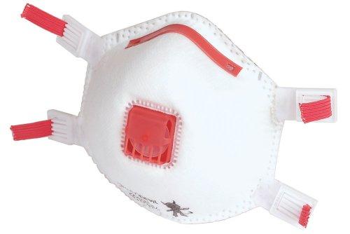 Wolfcraft 4842000 4842000-2 máscaras Antipolvo FFP3 V, con válvula de respiración y Cinta de Goma Ajustable, Especialmente adecuadas para prevención antigripe, DIN EN 149:2001 + A1:2009 (CE), Set de 2 Piezas