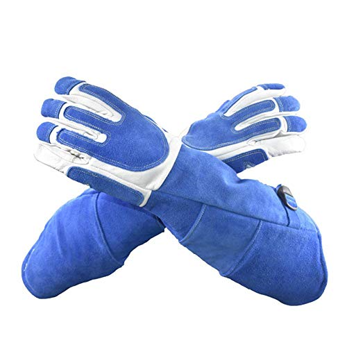 Augneveres Tierhandschuhe, Anti-Biss-/Kratzschutz, Handschuhe für Hunde, Katzen, Vögel, Schlange, Papageien, Eidechse, Wildtiere, Lange Schutzhandschuhe