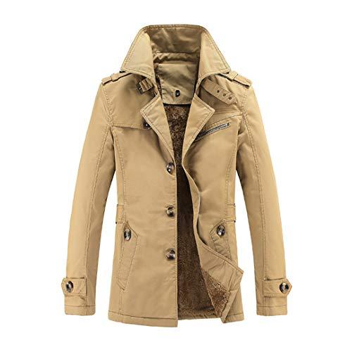 BGFHDLWESR Mode Winter MäNner Dicke Warme Baumwolle Parkas Mantel Oberbekleidung ReißVerschluss Winterjacken Yellow L