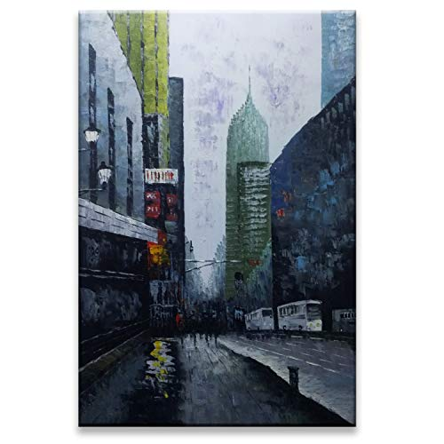 Fasdi-ART Gemälde, Ölgemälde, Landschaft, 3D handgemalt auf Leinwand, abstraktes Kunstwerk, Kunst, Holz, gerahmt zum Aufhängen, Wanddekoration, abstraktes Gemälde 24X36inch Gf008
