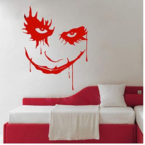 Scary Monster Gesicht Ghost Blood Horror Cartoon Clown Abnehmbare Vinyl Wandaufkleber Abziehbild Dekor Schlafzimmer Sofa Hintergrund 43x55 cm