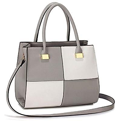 Womens Check Print Designer Tote Large Cross Body Stylish Design Faux Leather Celebrity Style Tote Handbag