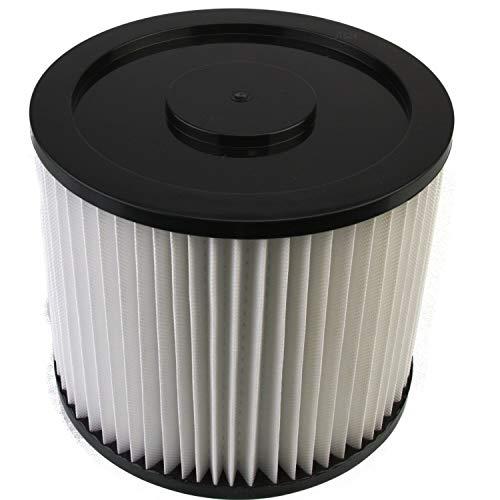 DeClean Filter Lamellenfilter,Luftfilter,Filterpatrone Ersatzteil für Nass-Trockensauger waschbar 1 Rundfilter Parkside PNTS Modelle: 1400 A1, B1, C1, D1