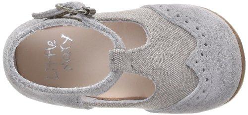 Little Mary François, Chaussures premiers pas bébé garçon Gris (Velours Acier)