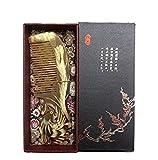 EQLEF® Großes Geschenk für Frauen Medium Lupe Handmade Yak Horn Kamm Handgeschnitzte Kamm, mit dem schönen Kasten