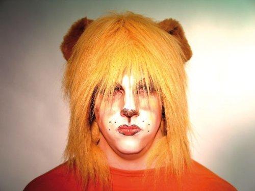 Löwenhaube aus Plüsch - Löwenmähne Kostüm Für Erwachsene