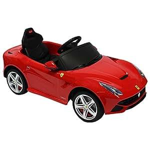 ferrari f12 berlinetta kinderauto elektrisch mit fernbedienung rot spielzeug. Black Bedroom Furniture Sets. Home Design Ideas