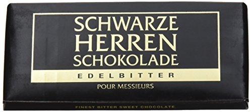 Schwarze Herren Schokolade Edelbitter, 10er Pack (10 x 100 g) (Herren-edelbitter-schokolade)