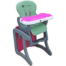 Asalvo 303520 - Trona convertible, color pistacho / rosa