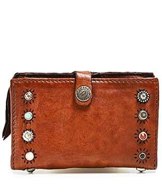 neueste Kollektion klare Textur 100% authentisch Campomaggi Women's Leather Purse with Ravenna Studs One Size ...
