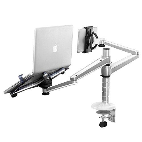 Karlson Tragbare Laptop-Stand-Aluminiumfalten-Tabletten-PC-Behälter-Aufzüge Drehbarer justierbarer Winkel schützen die zervikale Wirbelsäule-rutschfeste abkühlende Laptop-Schale
