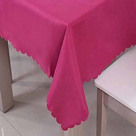 Fanjow® Nappe Polyester Couleur unie Nappe Rectangle Table Cover Nappe